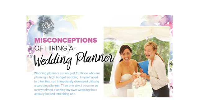 Misconceptions of Hiring a Wedding Planner